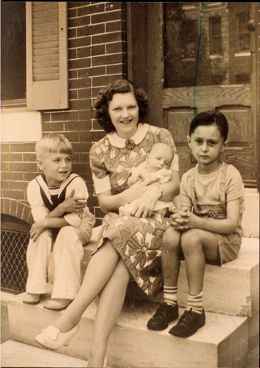 John Mason Rudolph Jr. (right) with first cousins Richard Stroup and baby Milton Stroup, and their mom Vera Price